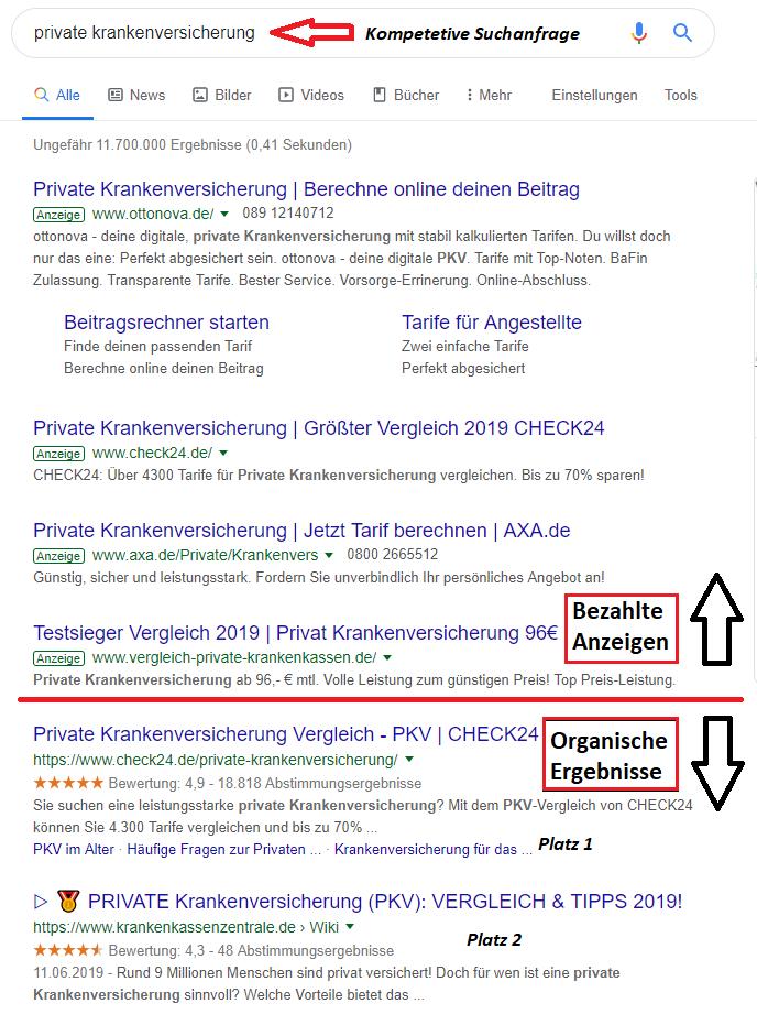 SEO Stuttgart-Suchergebnisse für ein schwieriges Keyword